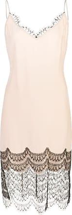 Kiki De Montparnasse Camisole-Kleid mit Spitzenborte - Rosa