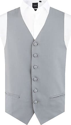 Dobell Mens Dove Grey Morning Suit Wedding Waistcoat Regular Fit Single Breasted-L (42-44in)
