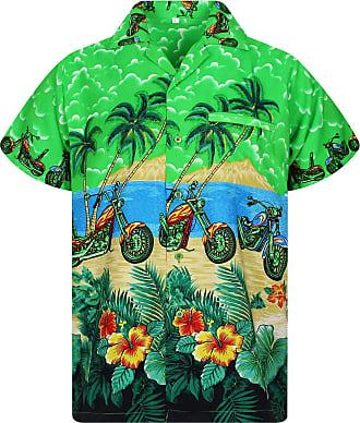 V.H.O. Funky Hawaiian Shirt, Green XXX-Large