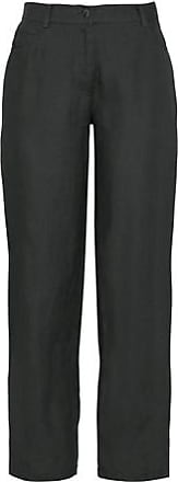 Enna Leinenhose im 5-Pocket-Style, schwarz