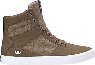 cheap for discount 4f924 ca062 Supra Mens Aluminum Shoes,13,Olive-White