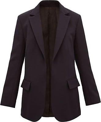 Raey Single-breasted Wool-twill Jacket - Womens - Navy