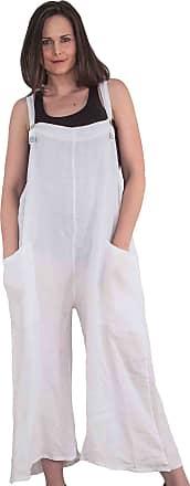Love my Fashions Love My Fashion Hollie Button Detail Plain Jumpsuit White M/L (UK 12/14)