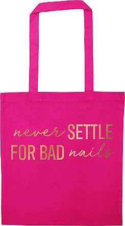 Flox Creative Pink Tote Bag Rose Gold Never Settle for Bad Nails