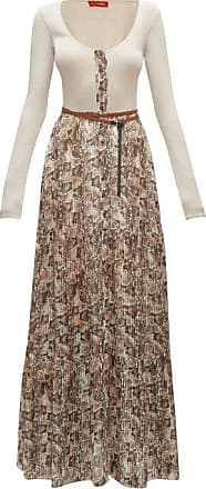 Altuzarra Pollie Belted Snakeskin-print Maxi Dress - Womens - Ivory