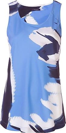 Natori Regata azul com estampa abstrata