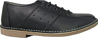 Ikon Original Mens Marriott Mod 60s 70s Leather Bowling Shoe Black 12 UK/46 EU