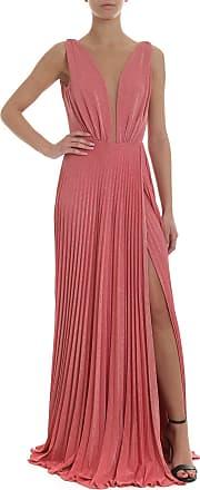 8dbfe9a93b91 Elisabetta Franchi Abito lungo plissettato rosa lamé