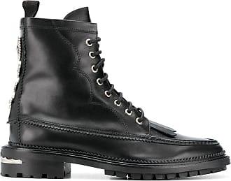 Toga Archives Ankle boot com cadarço e franjas - Preto