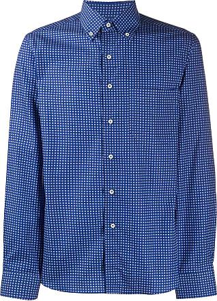 Canali Camisa com estampa micro - Azul