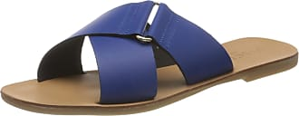 Pieces Womens Psnea Leather Sandal Flat, Surf The Web, 5.5