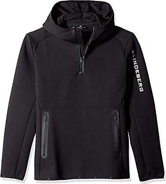 J.Lindeberg Mens Logo Hood Tech Sweat Jacket, Black Medium