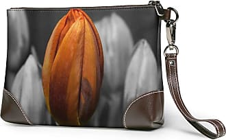 GLGFashion Womens Leather Wristlet Clutch Wallet Bud Storage Purse With Strap Zipper Pouch
