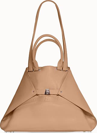 MQaccessories Medium Aicon Leather Tote Bag with Embossed Details