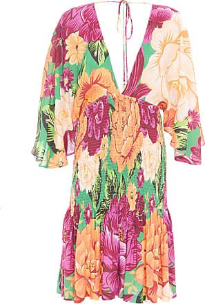 Farm Vestido Lastex Outono De Chita - Verde