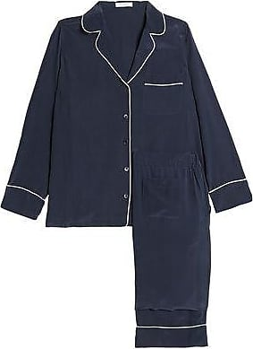 Equipment Equipment Woman Avery Washed-silk Pajama Set Navy Size M