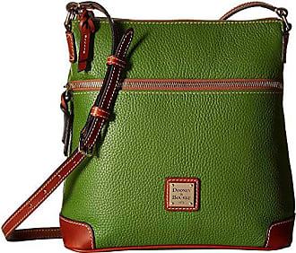 Dooney & Bourke Pebble Crossbody (Grass/Tan Trim) Cross Body Handbags