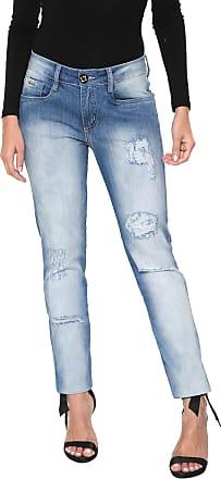 Lança Perfume Calça Jeans Lança Perfume Skinny Destroyed Azul