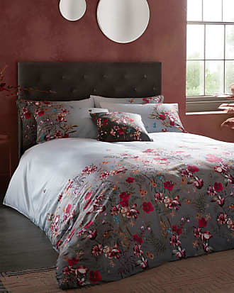 Ted Baker Fern Forest Cotton Double Duvet Cover in DK-GREY FERNISA, Home