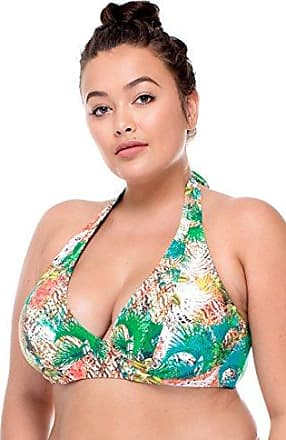 Sunsets Womens Plus Size Muse Printed, Tahitian Dream, 20 DD/E