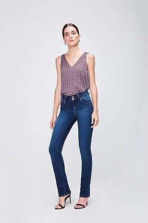 Damyller Calça Jeans Cintura Alta Feminina Tam: 40 / Cor: BLUE