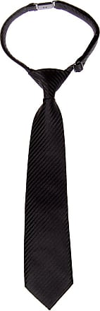 Retreez Woven Pre-tied Boys Tie with Stripe Textured - Black - 6-18 months