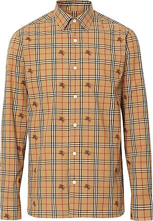 d9263d49c1 Burberry Camisa xadrez Equestrian Knight - Neutro