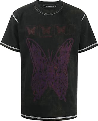 United Standard butterfly print cotton T-shirt - Black