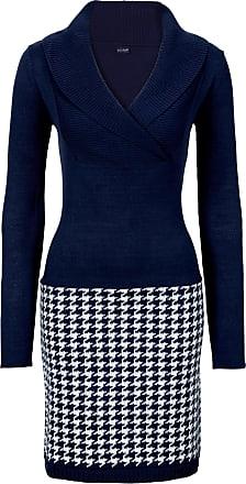 Bodyflirt Dam Stickad klänning i blå lång ärm - BODYFLIRT 2b34d454a16bd