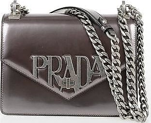 Prada Metallic Leather Shoulder Bag size Unica