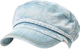 Ililily Vintage Washed Denim Military Solid Color Cotton Cadet Cap Flex-fit Army Camo Style Hat (cadet-524-3)