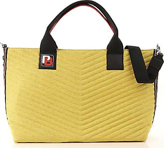 Pinko Tote Bag On Sale, Antique Yellow, Canvas, 2017, one size