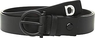Salvatore Ferragamo Adjustable Wrap Belt with Gancio (Nero) Mens Belts
