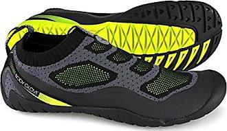 Body Glove Mens Aeon Water Shoe, Black/Neon Yellow, 8