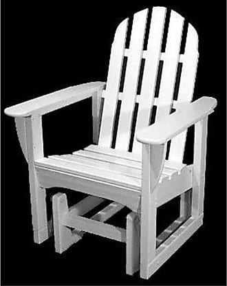 POLYWOOD Classic Recycled Plastic 2 ft. Adirondack Outdoor Glider Chair Hunter Green - ADSGL-1GR