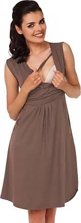 Zeta Ville Zeta Ville - Womens Maternity Nursing A-line Dress Pockets - Sleeveless - 500c (Cappuccino, UK 12, L)