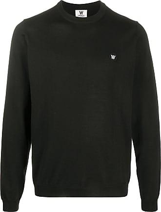 49 Winters Suéter decote careca com patch de logo - Preto