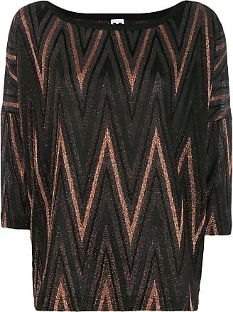 M Missoni Zigzag metallic knit top - Preto