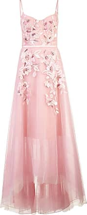 Marchesa empire line embroidered dress - Pink
