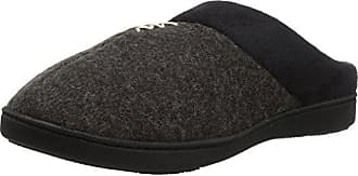 7d8d18ee0 Isotoner Womens Microsuede Knit Marisol Hoodback Slippers, Black, Small/  6.5-7 Standard