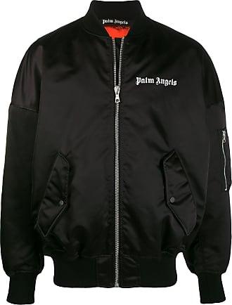 Palm Angels logo-print bomber jacket - Black