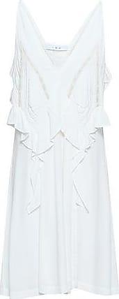 Iro Iro Woman Bercey Lace-trimmed Ruffled Crepe Mini Dress White Size 34