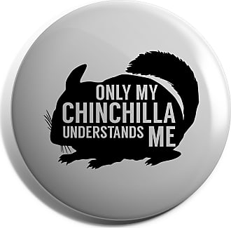 HippoWarehouse Only my chinchilla understands me Badge Pin