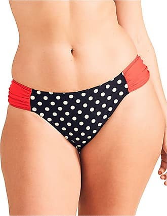 Figleaves Womens Tuscany Spot Ruched Brief Size 14 in Black