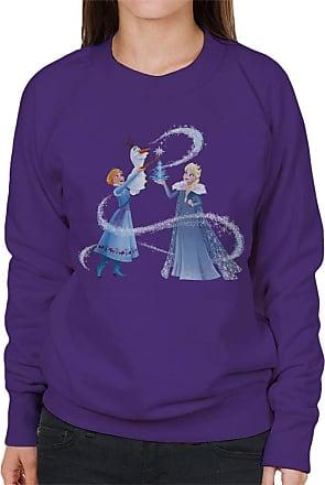 Disney Frozen Christmas Ice Tree Womens Sweatshirt Purple