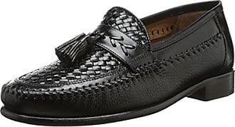 Florsheim Mens Swivel Woven Moc Tassel Slip-On Loafer, Black, 8 D US