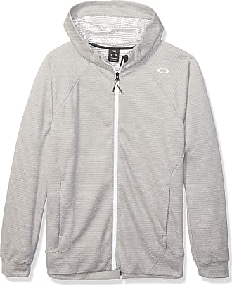 Oakley Enhance Technical Fleece Jacket.Grid 9.0 Sweatshirt, Light Heather Grey, Medium