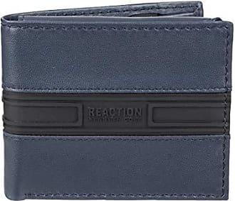Kenneth Cole Reaction Mens RFID Blocking Security Passcase Bifold Wallet, Navy, One Size