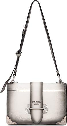 40753454554677 Prada Cahier leather shoulder bag - White