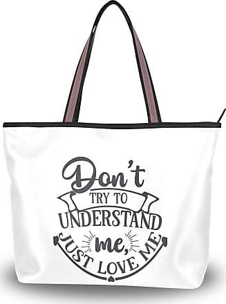 Lorona Women Just Love Me Lettering Canvas Shoulder Hand Bag Large Capacity Tote Bag